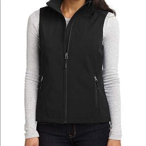 🦋 Port Authority Black Soft Shell Vest Sz XL